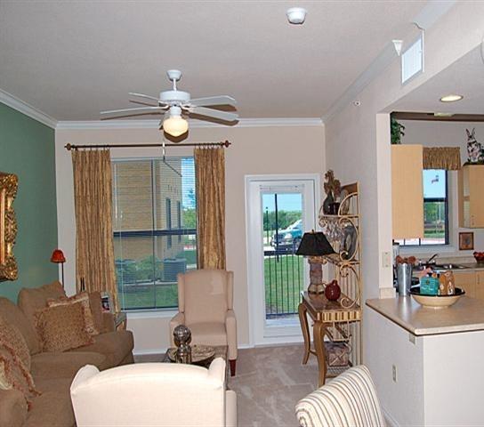 Parkview In Allen Senior Housing Apartment Living Room