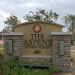 The Aspens at Twin Creeks Apartment Entrance
